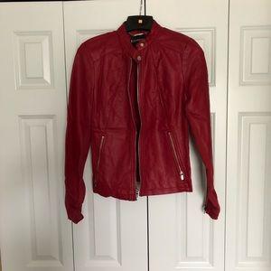 Express Red Biker Jacket